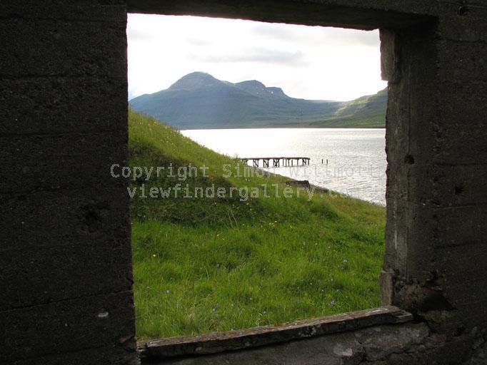 Pier through the window
