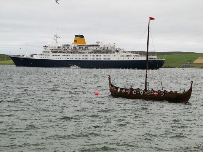 Viking boat and ferry