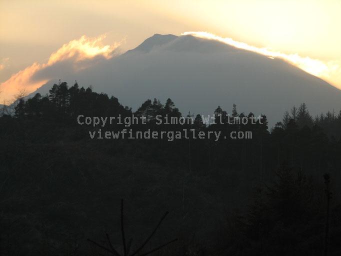 Looming mountain